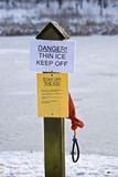 Keep off the ice Stock Images