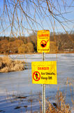Keep off ice Royalty Free Stock Photos