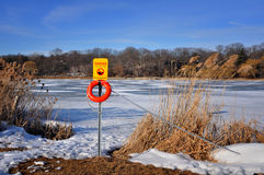 Keep off ice Royalty Free Stock Photography