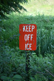Keep off ice Stock Photos