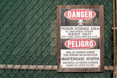 Keep off poison storage area Stock Images
