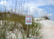 Keep off sand dunes sign Royalty Free Stock Images