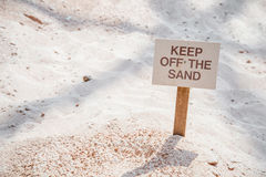 Keep off the sand sign Royalty Free Stock Images