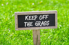 Free Keep Off The Grass Stock Image - 71188001