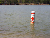 Keep Out. Warning for boats to keep out royalty free stock image