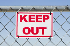 Keep Out Stock Photography