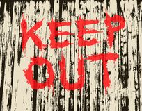 Keep out. Vector illustration of grungy painted keep out sign Stock Photo