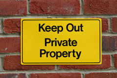 Keep Out! Royalty Free Stock Photography