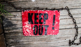 Keep out Sign Stock Image