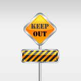 Keep out caution sign. Royalty Free Stock Photos