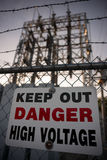 Keep Out Danger High Voltage Sign Royalty Free Stock Photos