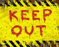 Keep Out Enamel Sign Stock Photo