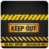 Keep out. Four keep out and do not enter signals with colors Royalty Free Stock Images
