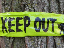 Keep out Halloween decoration Stock Photo