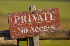 Keep out no trepassing. Private no access sign in english countryside royalty free stock image