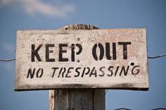 Keep Out - No Trespassing Sign Stock Images
