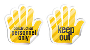 Keep out palm stikers Royalty Free Stock Images
