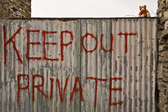 Keep Out Private Royalty Free Stock Photo