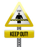 Keep out road sign illustration design Royalty Free Stock Photography