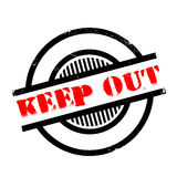 Keep Out rubber stamp Stock Photography