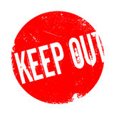 Keep Out rubber stamp Royalty Free Stock Photo