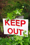 Keep out sign Royalty Free Stock Photo