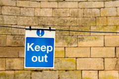 Keep Out Sign Royalty Free Stock Photos