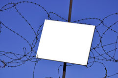Keep out sign of military area Royalty Free Stock Photos