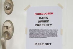 Keep out sign notice. Real estate lender bank owned keep out sign notice Stock Photos