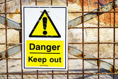 Keep out sign Royalty Free Stock Image