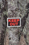 Keep Out Royalty Free Stock Photos