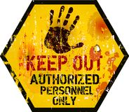 Keep out sign,. Warning / prohibition sign Stock Image