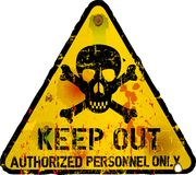 Keep out sign, warning. / prohibition sign Royalty Free Stock Photo