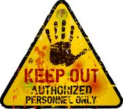 Keep out sign,. Warning / prohibition sign, vector, grungy Royalty Free Stock Photography