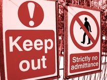 Keep Out Signs Royalty Free Stock Image