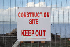 Keep out site sign Royalty Free Stock Images