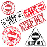 Keep Out Stamp Royalty Free Stock Photo