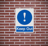 Keep Out Royalty Free Stock Image
