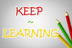 Keep que aprende concepto ilustración del vector