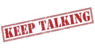 Keep que fala o selo vermelho ilustração do vetor