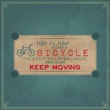 Keep que move sobre sua bicicleta Imagem de Stock