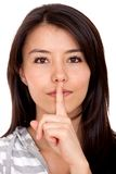 Keep it quiet Stock Image