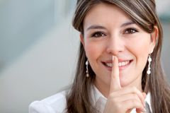 Keep it quiet Royalty Free Stock Photography