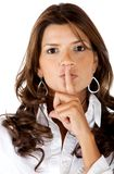 Keep it quiet Royalty Free Stock Photo