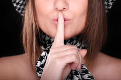 Keep quiet Royalty Free Stock Photo