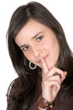 Keep it quiet - friendly face Royalty Free Stock Photos