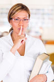 Keep quiet at the library Royalty Free Stock Photo