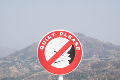 Keep quiet sign Royalty Free Stock Photos