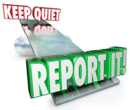 Keep Quiet Vs Report It Weighing Options Do Right Thing Royalty Free Stock Image