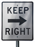 Keep Right. Sign Stock Image
